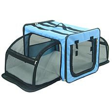 Pet Life Large Expandable Collapsible Travel Pet Dog Crate