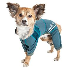 Pet Life SM 4-Way Stretch Breathable Full Body Yoga Dog Track Suit