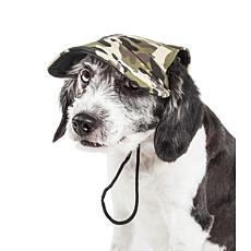 Pet Life Torrential Downfour Camouflage Adjustable Dog Hat - Medium