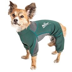 Pet Life XL 4-Way-Stretch Breathable Full Body Dog Warmup Track Suit