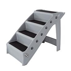 PETMAKER 4-Step Folding Plastic Pet Stairs