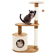 PETMAKER Cat Tree 3-Tier Condo with Scratching Posts