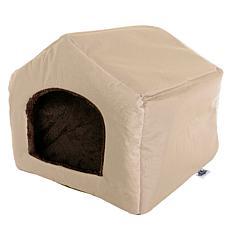 PETMAKER Cozy Cottage House-Shaped Pet Bed