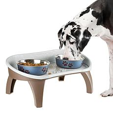 PETMAKER Elevated Pet Feeding Tray with Splash Guard and Non-Skid Feet