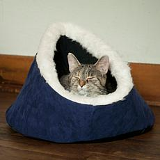 PETMAKER Feline Cat Comfort Cavern Pet Bed - Blue