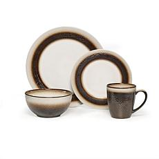 Pfaltzgraff 16-piece Eclipse Bronze Dinnerware Set