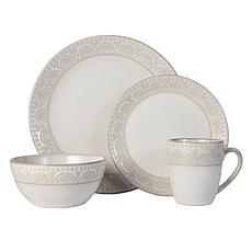 Pfaltzgraff Amelia Cream 16-Piece Dinnerware Set