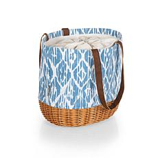 Picnic Time Coronado Basket Tote - Moroccan Watercolor Pattern