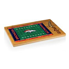 Picnic Time Glass Top Cutting Board-Denver Broncos