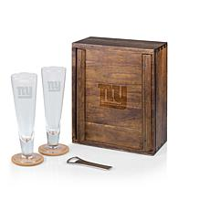 Picnic Time Officially Licensed NFL Beer Glass Gift Set - NY Giants