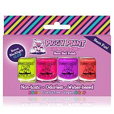 Piggy Paint Neon 4-polish Boxed Set