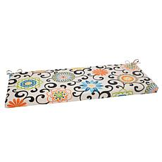 Pillow Perfect Bench Cushion - Pom Pom Play Lagoon