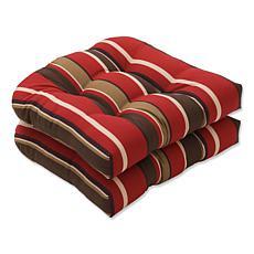 Pillow Perfect Monserrat Seat Cushion Pair - Red