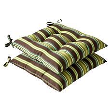 Pillow Perfect Set of 2 Outdoor Bosco Wrought Iron Seat
