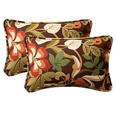Pillow Perfect Set of 2 Outdoor Coventry Rectangular Th
