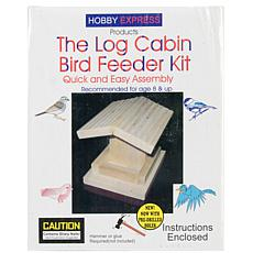 Pinepro Log Cabin Wood Bird House Kit - Unfinished