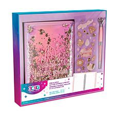 Pink and Gold Glitter Journal and Pen Set
