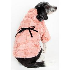 Pink-Faux Mink Luxury Designer Pet Coat