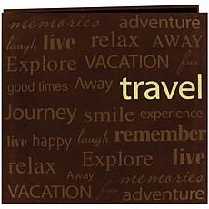 "PioneerText Faux Suede 12"" x 12"" Scrapbook - Travel"