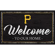 """Pittsburgh Pirates Team Color Welcome Sign - 11x19"""""""