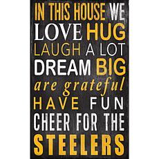 Pittsburgh Steelers In This House Sign