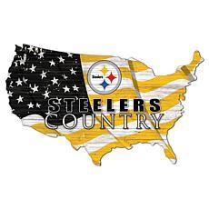 Pittsburgh Steelers USA Shape Flag Cutout