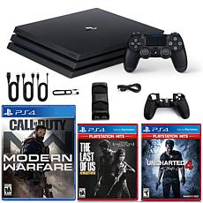 PlayStation 4 Pro 1TB COD Msodern Warfare Conole with Last of Us, U...