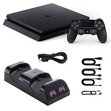 PlayStation 4 Slim 1TB Console with Dual Charging Cradle