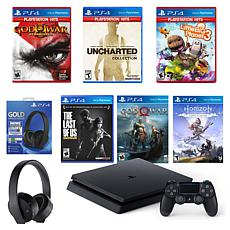 PlayStation 4 with God of War 3, Uncharted, and Little Big Planet 3...