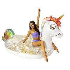 PoolCandy Gigantic 2-3 person Glitter Unicorn Float
