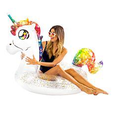 """PoolCandy Unicorn Jumbo 48"""" Glitterfied Pool Tube"""
