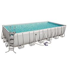 Power Steel 24' x 12' Rectangular Pool Set