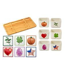 Precious Moments 13-piece Holiday Serving Boards and Bowls Set