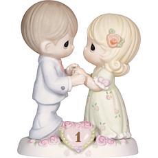 Precious Moments 1st Anniversary Bisque Porcelain Figurine