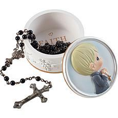 Precious Moments 202423 First Communion Boy Rosary Box