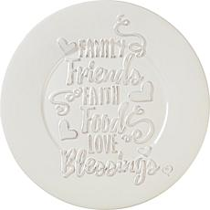 Precious Moments Family Friends Faith Food Love Blessings Plate