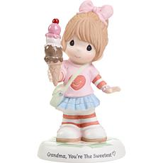 Precious Moments G-ma You're The Sweetest Girl w Cone Porcelain Figure