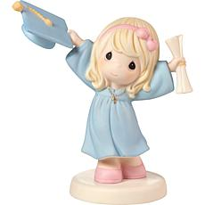 Precious Moments Graduation Girl With Cap And Diploma Figurine