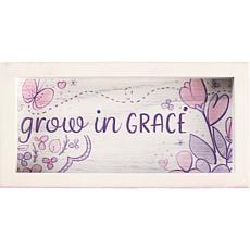 "Precious Moments ""Grow in Grace"" Wood Trinket Tray"