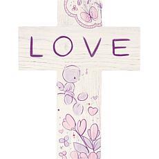 "Precious Moments ""Love"" Wood Wall Cross"