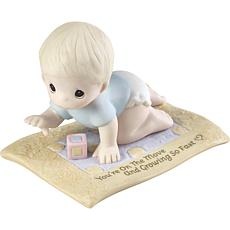 Precious Moments On The Move Baby Crawling Bisque Porcelain Figurine