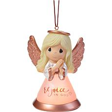 Precious Moments Rejoice In God LED Light Up Angel Ornament