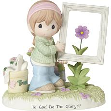 Precious Moments To God Be The Glory Bisque Porcelain Figurine