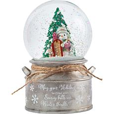 Precious Moments Winter Thrills 10th Annual Snowman Snow Globe