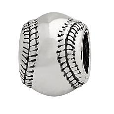 Prerogatives Sterling Silver Baseball Bead