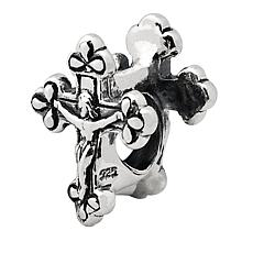 Prerogatives Sterling Silver Crucifix Bead