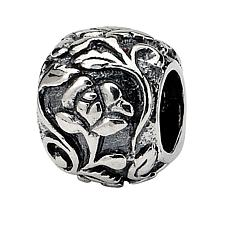 Prerogatives Sterling Silver Floral Bead