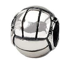 Prerogatives Sterling Silver Volleyball Bead
