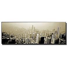 """Preston """"Chicago Skyline"""" Canvas Art - 24"""" x 10"""""""