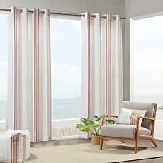 "Print Stripe 3M Scotchgard Curtain Coral/White 54""x84"""